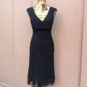 Sz S Arden B Black Ruffle Dress W Velvet Belt